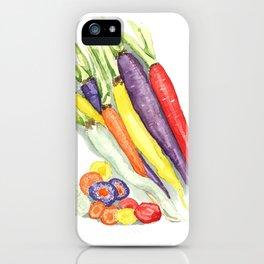 Rainbow Heirloom Carrots iPhone Case