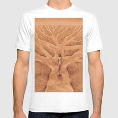 Paths like Branches Mens Fitted Tee MEDIUM White