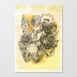 Solar Plexus Chakra - Witches of the Nine Worlds Canvas Print