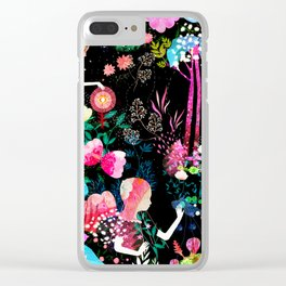 cosmic garden Clear iPhone Case