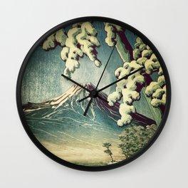 5 Lakes at Moonlight Wall Clock