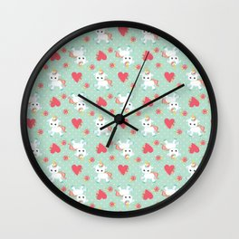 Baby Unicorn with Hearts Wall Clock