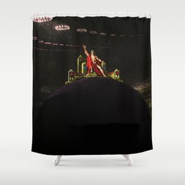 """Satan Preceding over the Infernal Council"" by Jeanpaul Ferro Shower Curtain"