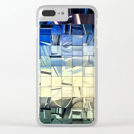 Lisbon Portugal Azulejo Abstract Glass Pano Clear iPhone Case