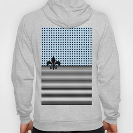 Pastel Cyan - Dots and Lines Hoody