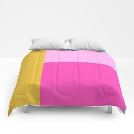 Geometric Bauhaus Style Color Block in Bright Colors Comforters