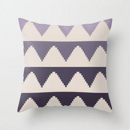 Geometric Pyramid Pattern - Purple Gradient Throw Pillow