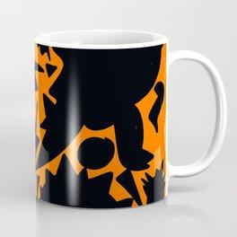 Halloween Monsters and Bats in the orange night Coffee Mug