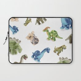 Dinosaur Blue Gree Brown Pattern Laptop Sleeve