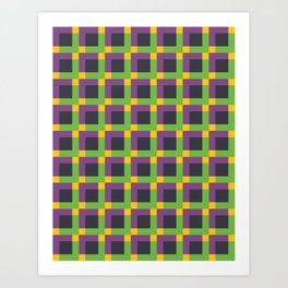 Overlapping Squares II Art Print