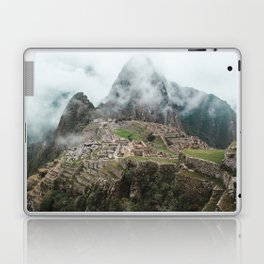 Ancient Inca ruins of Machu Picchu and surrounding Andes mountains in the early morning, Peru Laptop & iPad Skin