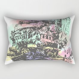 Colourful Moving Castle Rectangular Pillow