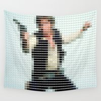 starwars Wall Tapestries featuring Han Solo - StarWars - Pantone Swatch Art by Alex Patterson AKA frigopie76