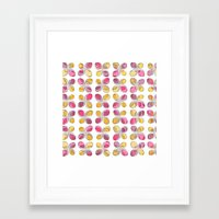 flower pattern Framed Art Prints featuring flower pattern by VessDSign