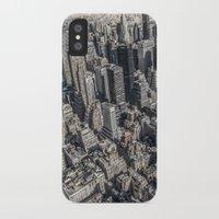 manhattan iPhone & iPod Cases featuring Manhattan by Nicklas Gustafsson