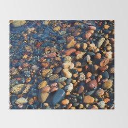 Lake Superior Rocks Throw Blanket