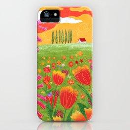 Flowers field iPhone Case