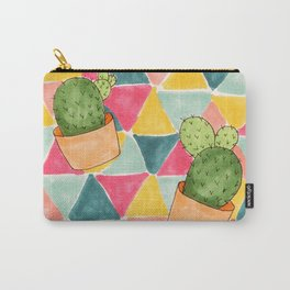 Colorful Cactus Trio Carry-All Pouch