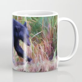 Call of the Salmon King - Fishing Black Bear Coffee Mug