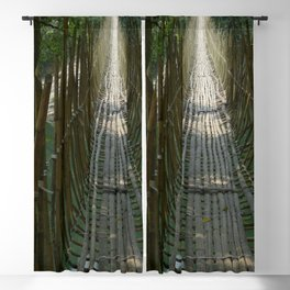 Hanging Bridge in the Indian Jungle 2 Blackout Curtain