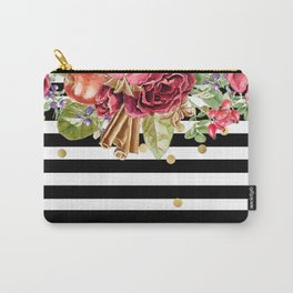Custom Christmas Boho Floral and Other Elements Pattern Carry-All Pouch