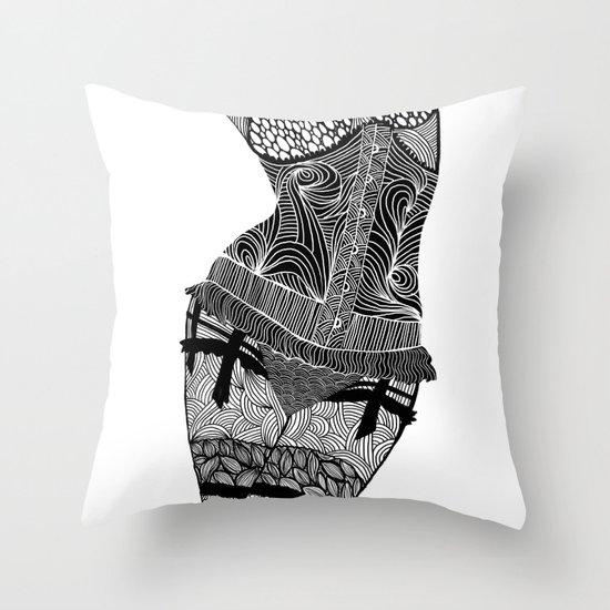 La femme 01 Throw Pillow