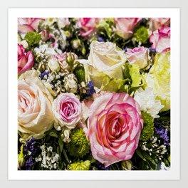Shabby Roses Art Print