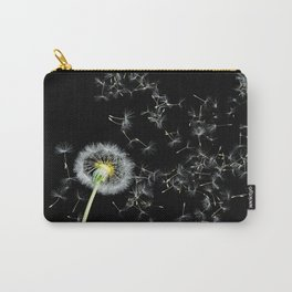 Blowing in the Wind Dandelion, Scanography Carry-All Pouch