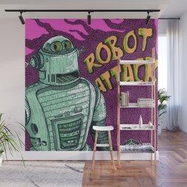 robot attack Wall Mural