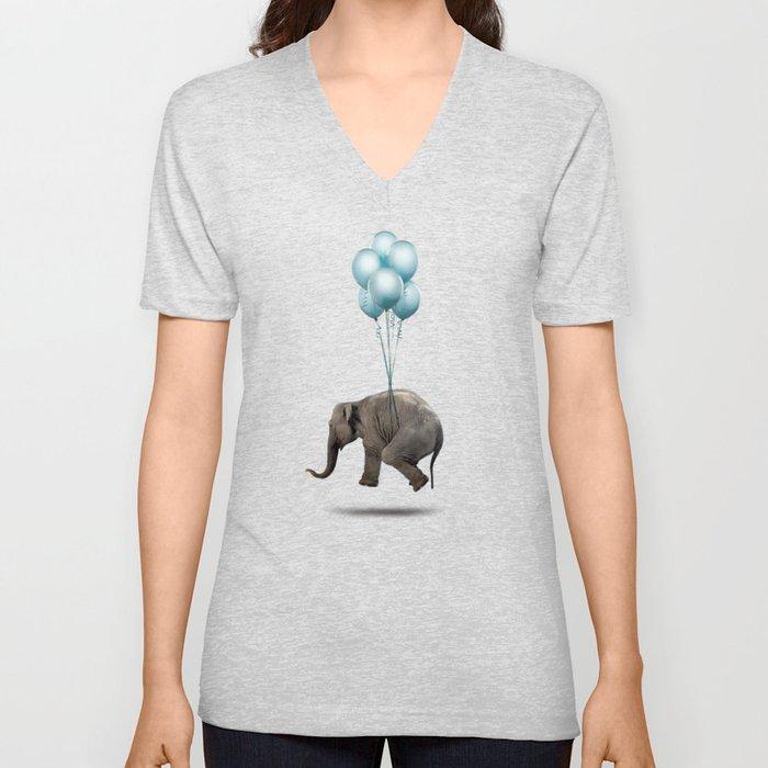 Levitating Elephant Unisex V-Neck