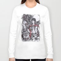 dracula Long Sleeve T-shirts featuring Dracula by Furiarossa