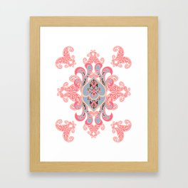 Ethnic paisley ornament. Framed Art Print