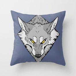 Scrappy (B&W) Throw Pillow