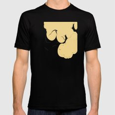 The Yellow Clouds MEDIUM Black Mens Fitted Tee
