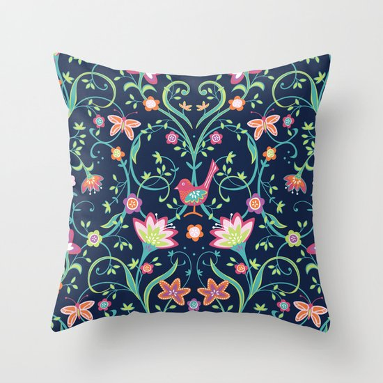 Flowering Love Throw Pillow