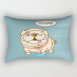 Bulldog-Pig Rectangular Pillow