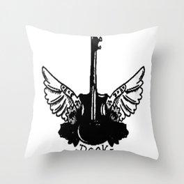 Rock guitar , custom gift design Throw Pillow