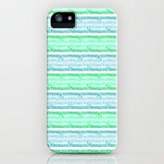 blue&green stripes iPhone (5, 5s) Slim Case