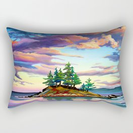 Skedans Islet Rectangular Pillow
