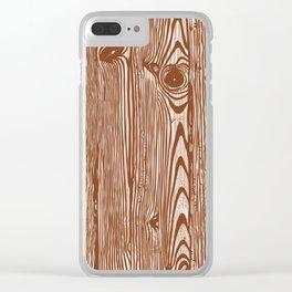 c13D Woodgrain Clear iPhone Case