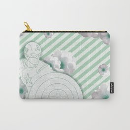 Cap Flowers+ Stripes Carry-All Pouch