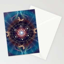 Metatron's Cube - Merkabah - Peace and Balance Stationery Cards