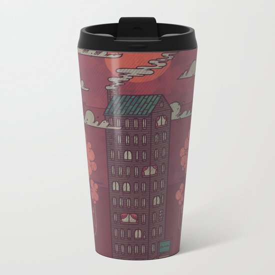 The Towering Bed and Breakfast of Unparalleled Hospitality Metal Travel Mug