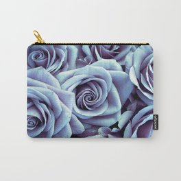 Periwinkle Roses / Flowers Carry-All Pouch