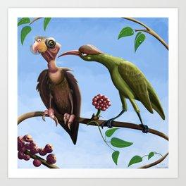 Whimsical  birds Art Print