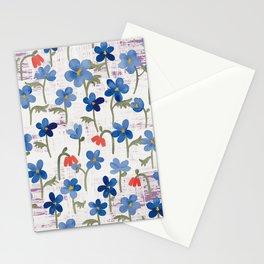 Blue Anemone - Springflowers Stationery Cards