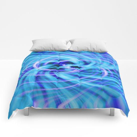 Blue twirl Comforters