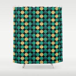 Glitzy Greens Shower Curtain