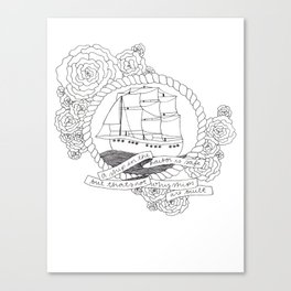 A Ship in the Harbor Canvas Print
