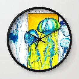 Blue jellys Wall Clock
